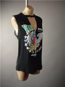 Black Rock N/' Roll Graphic Tee Slashed Metal Grunge T-Shirt 249 mv Dress S M L