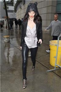 7921b90802eb72 AuthNWT $1845 Balenciaga Classic Leather Leggings Stretch Grey Kendall  Jenner 40