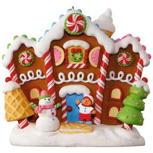 Hallmark 2017 Gingerbread Merriest House In Town Ornament Magic Cord