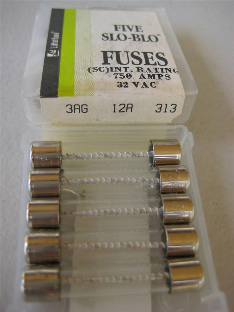 5x Littelfuse Fuse 313 12 15 20 25 Or 30 Amp 3ag Slow Blo
