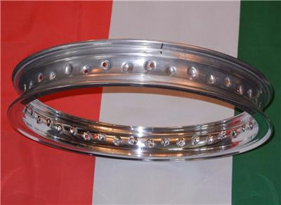 """UNDRILLED DIMPLED ONLY flanged alloy rim Made In Italy WM3 2.15/"""" X 19/"""" 40 hole"""