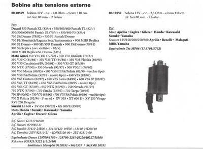 1979-1997 Ducati F1 900SD SS 0799-46-511 Guzzi  3171-6560 ignition coil 0010559