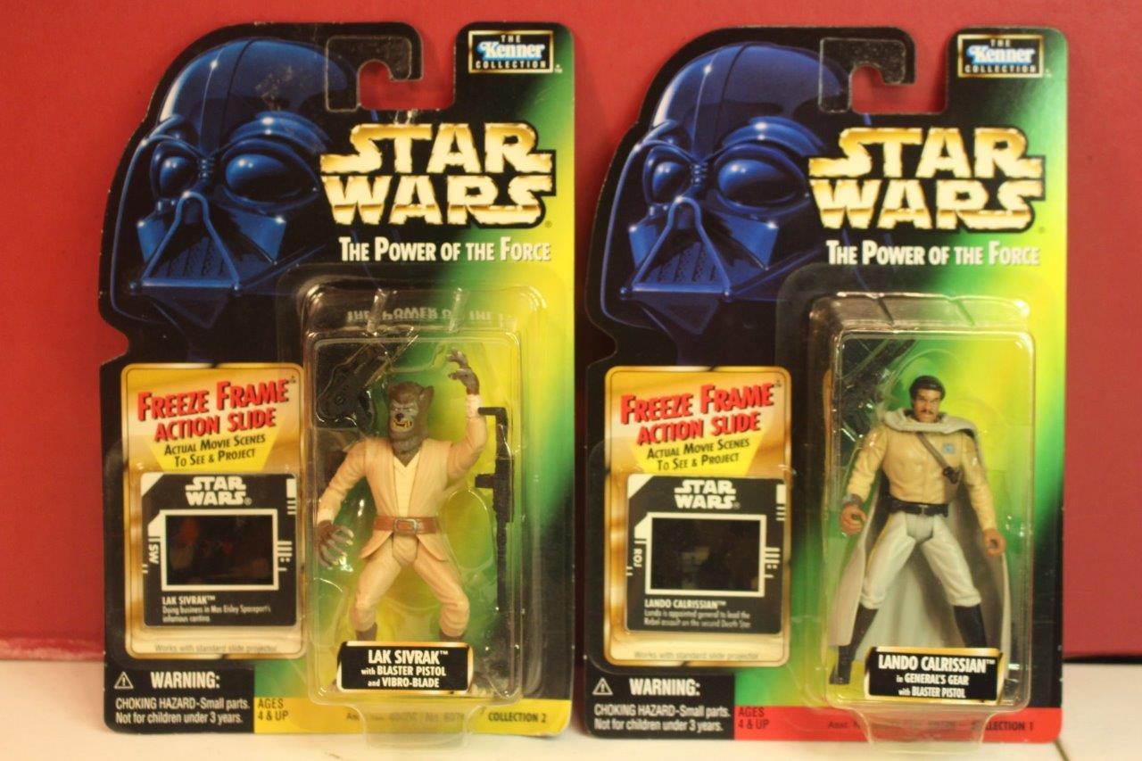 STAR WARS POTF FREEZE FRAME Action Figures 2X LAK SIVRAK & GENERAL ...
