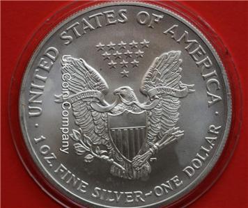 1991 American 1oz Fine Silver Eagle 1 One Dollar Coin Ebay