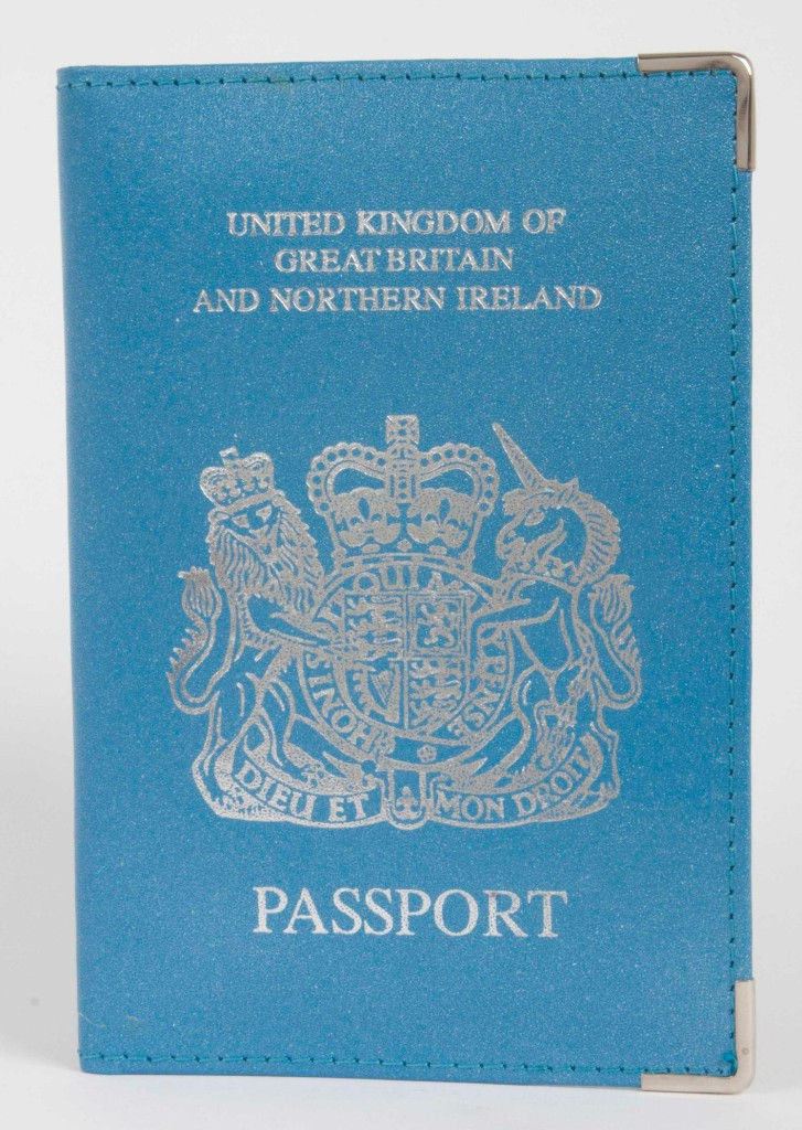 best website 4cfa9 b6905 Details about Real Leather UK Travel Passport Cover Holder Protector Case