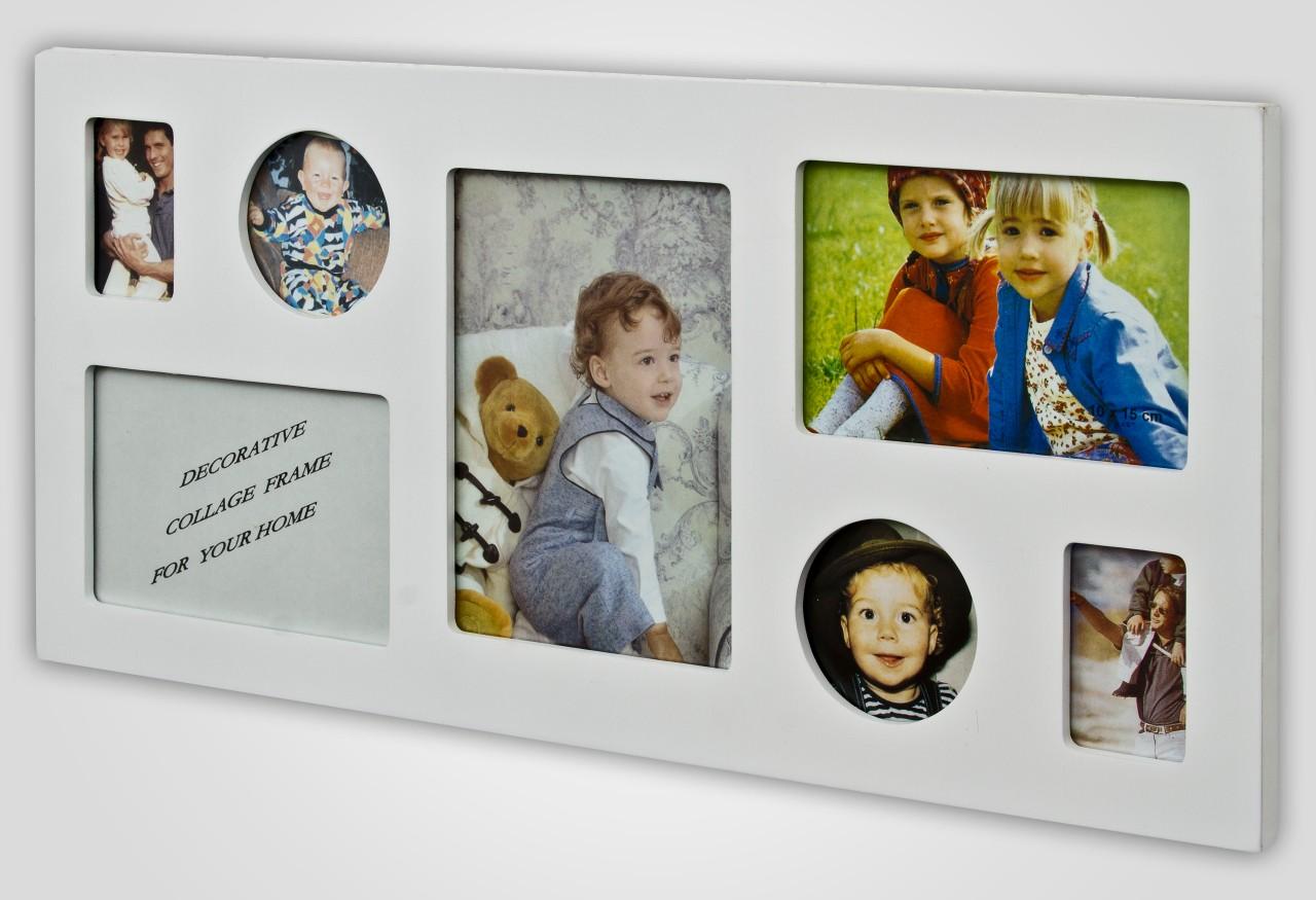 panneau cadre multi photo bois large decoratif collage ebay. Black Bedroom Furniture Sets. Home Design Ideas
