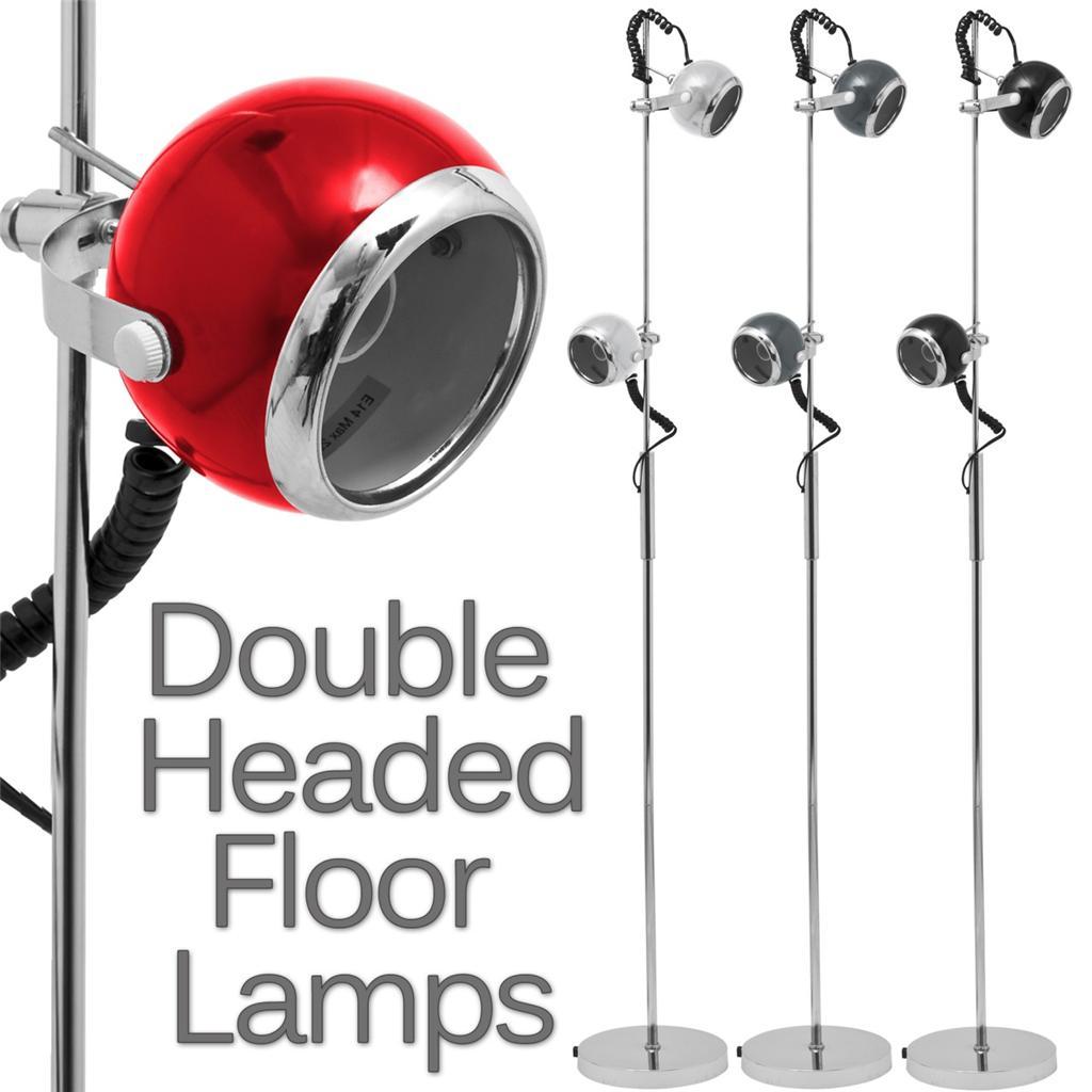 Flexible 360 two head standing floor lamp light adjustable height item specifics audiocablefo