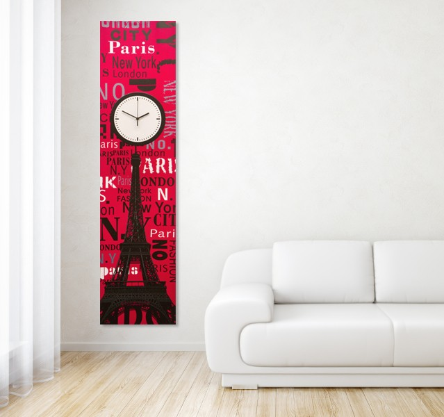 Extra Large 140cm Canvas Clock Wall Art Picture Retro