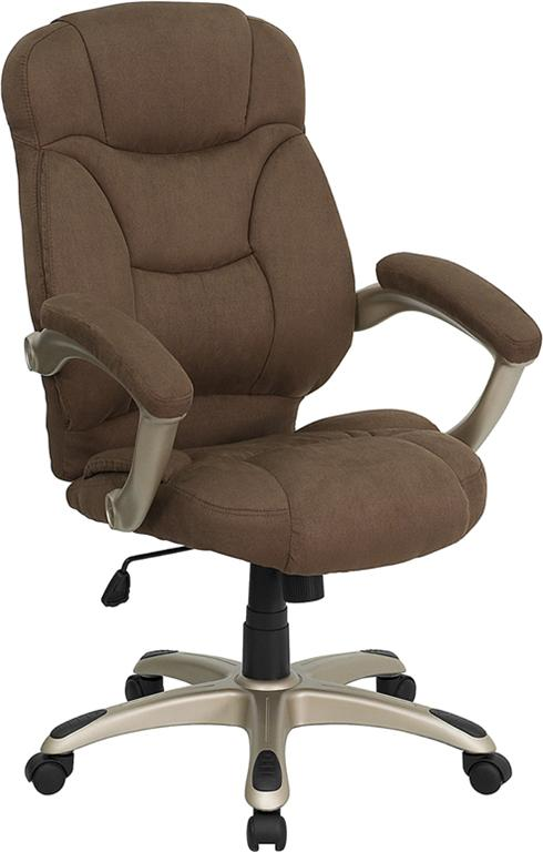 Brown Microfiber Fabric Computer Office Desk Chair Ebay