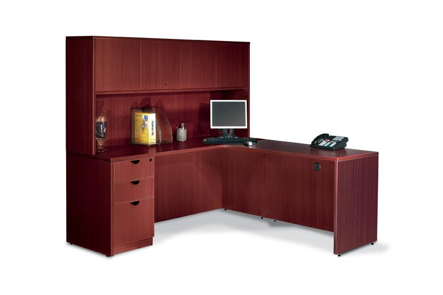 custom double hutch and office desk doubledesk
