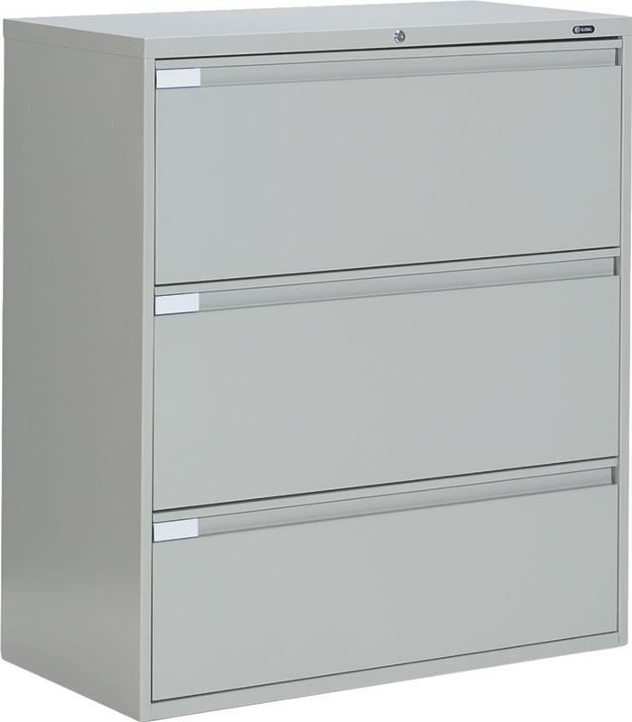 Superior Metal 3 Drawer Lateral File Cabinet Office Furniture | EBay