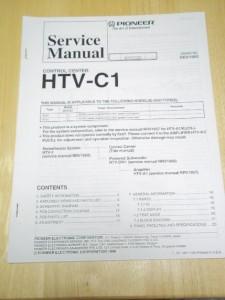 Pioneer service manual~htv-c1 control center~original~repair.