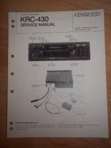 kenwood service manual krc 430 cassette receiver car radio. Black Bedroom Furniture Sets. Home Design Ideas