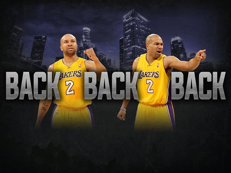 bfd43ea47bc DEREK FISHER Los Angeles Lakers BACK 2 BACK 2 BACK 3-Peat 8x10 Photo. Click  image to enlarge