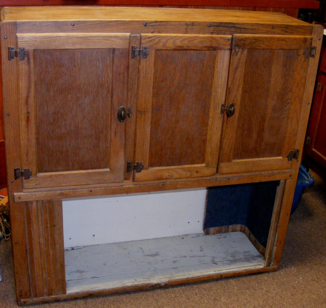 Beautiful Antique HOOSIER Wooden Kitchen Hutch TOP ONLY