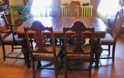 Solid Wood Dining Room Furniture Set Table Amp 6 Chairs
