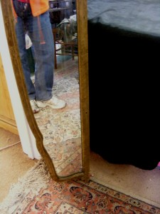 5 Foot Wide Antique Wall Wood Frame Mirror 10 Quot Tall