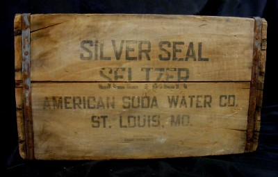 1935 Water Wood Crate Box Carrier American Soda Water Co