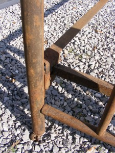 Antique Vintage Iron Bed W Headboard Footboard Amp Rails