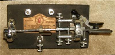 Details about Early 1900's Vibroplex Telegraph Key with Original Carrying  Case