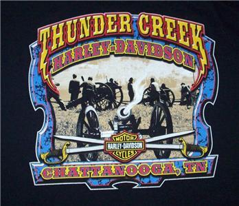 thunder creek harley davidson motorcycles chattanooga tn t-shirt