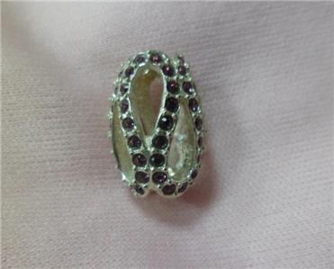 573f8b8a9657d Details about Chamilia Brand new GLISTENING MEANDER PURPLE Swarovski charm  2083-0409