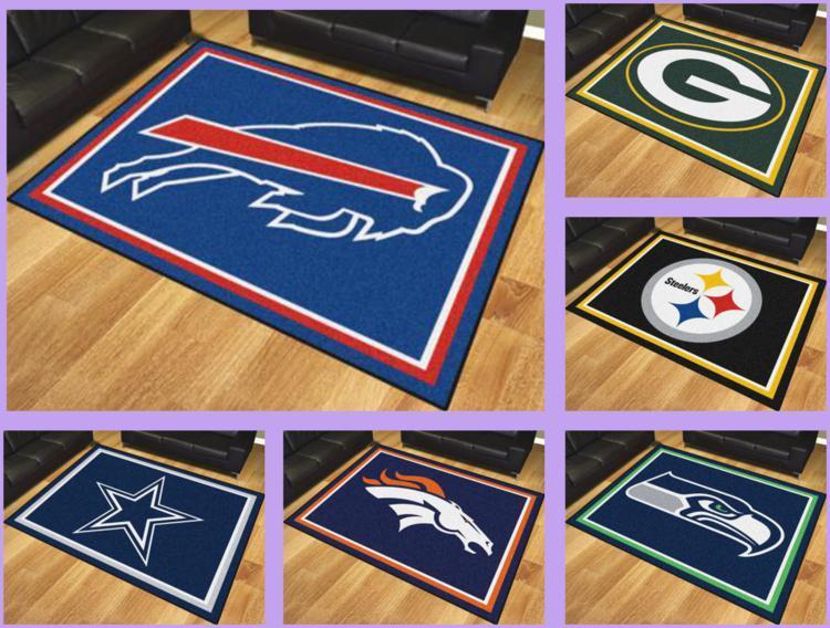 Nfl Licensed 8 X10 Area Rug Floor Mat Carpet Flooring Man
