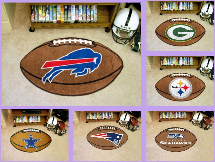 7547eed6 Details about NFL Licensed Football Area Rug Floor Mat Carpet Man Cave -  Choose Your Team