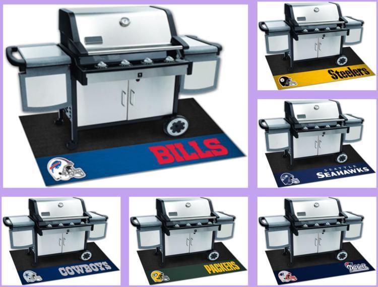 Nfl Licensed Barbecue Bbq Grill Mat Vinyl Outdoor Floor