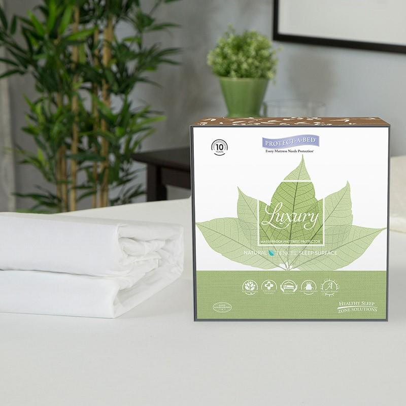 FREE SH Eucalyptus Pick size protectors for mattress Protect-a-Bed Luxury