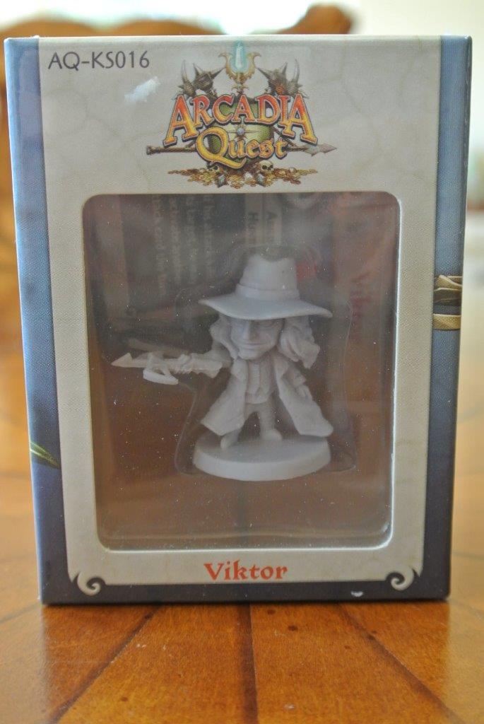 Nuevo En Caja Sellada Kickstarter exclusivo Arcadia Quest Mini Promo AQ-KS016 Viktor