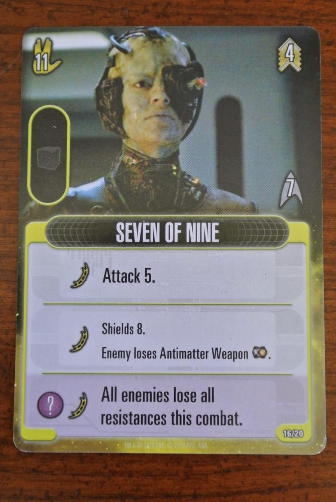 Star Srek Frontiers-Seven of Nine Board Game Expansion bonus promo Précommande