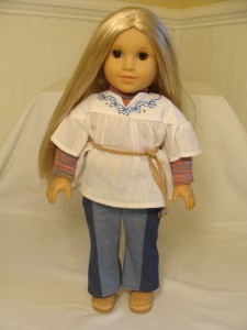 """American Girl JULIE MINI DOLL NO SHOES 6"""" + Book NEW in ...  
