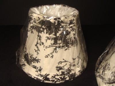 5 Small Mini Black Amp White Toile Portable Lamp Shades