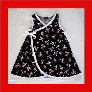 Pirate Skulls Punk Rock Toddler Baby Girl Dress Conscious ...