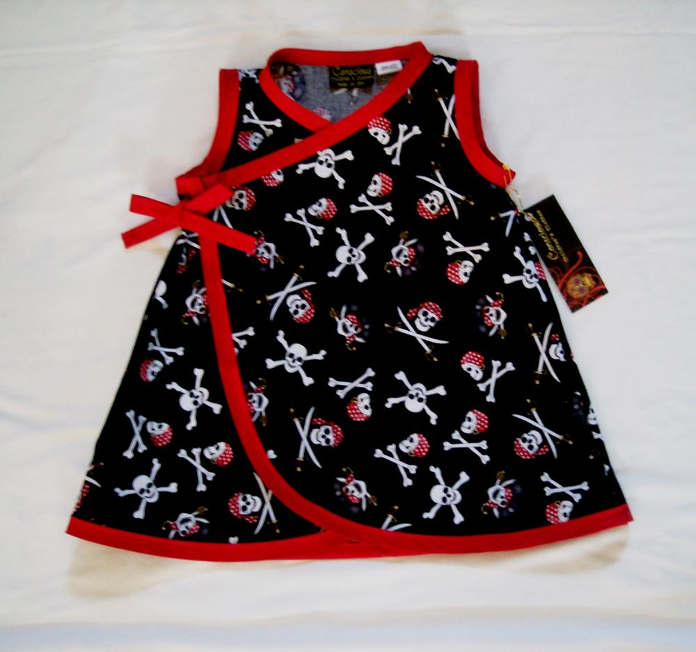 Pirate-Skulls-Punk-Gothic-baby-girl-dress-kids-clothes