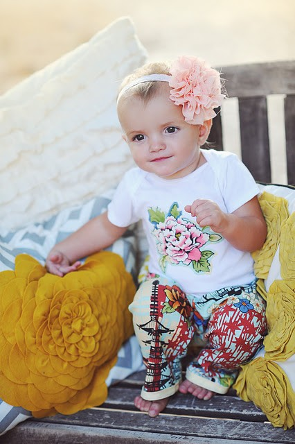 New Zen Baby Girl Pants Flower Shirt Lotus Pink Outfit