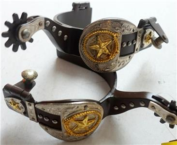 NEW HORSE TACK! Showman Brown Steel Western Bit w// Silver Accents /& Texas Star!