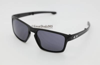 cd42c33891 BRAND NEW OAKLEY SLIVER F FOLDING ARMS MATTE BLACK FRAME GREY LENSES   OO9246-01