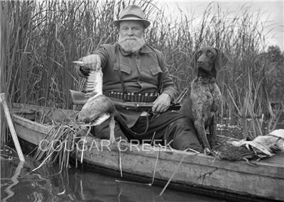 Antique Book By Canoe And Dog Train