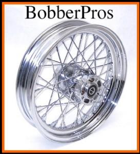 16 21 inch 40 Spoke Chrome Wheels Rims Harley Bobber