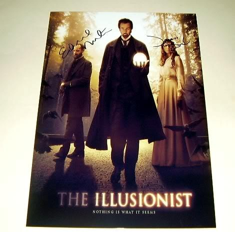 "THE ILLUSIONIST CAST X2 PP SIGNED POSTER 12""X8"" NORTON 