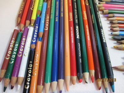 Lot of 120+ Colored Art Pencils Crayola Spectracolor ...
