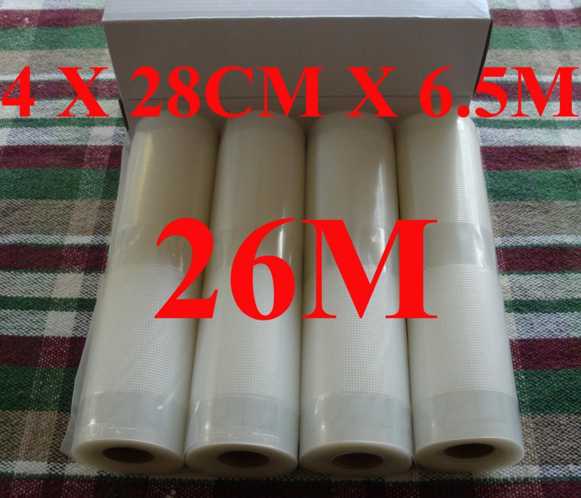 Vacuum Heat Sealer Food Saver Bags 26mx28cm Rolls Premium