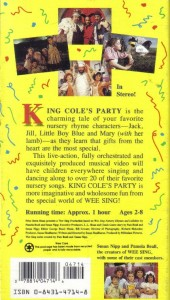 Wee Sing The Best Christmas Ever Vhs.Vhs Wee Sing King Coles Party On Popscreen