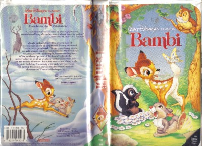 VHS: WALT DISNEY'S CLASSIC BAMBI....ANIMATED#