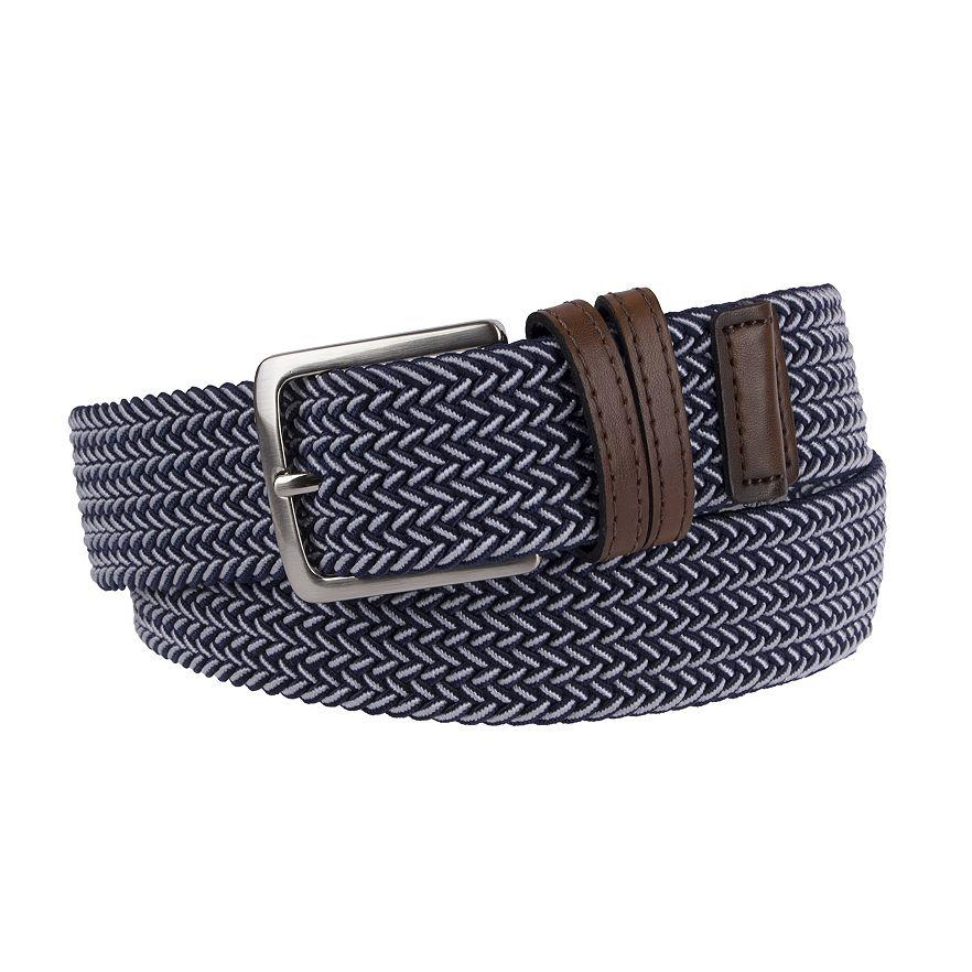 Dockers Leather Trimmed Men S Stretch Fabric Belt 30