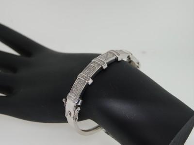 LADIES 1.25CT WHITE GOLD FINISH DIAMOND BANGLE BRACELET