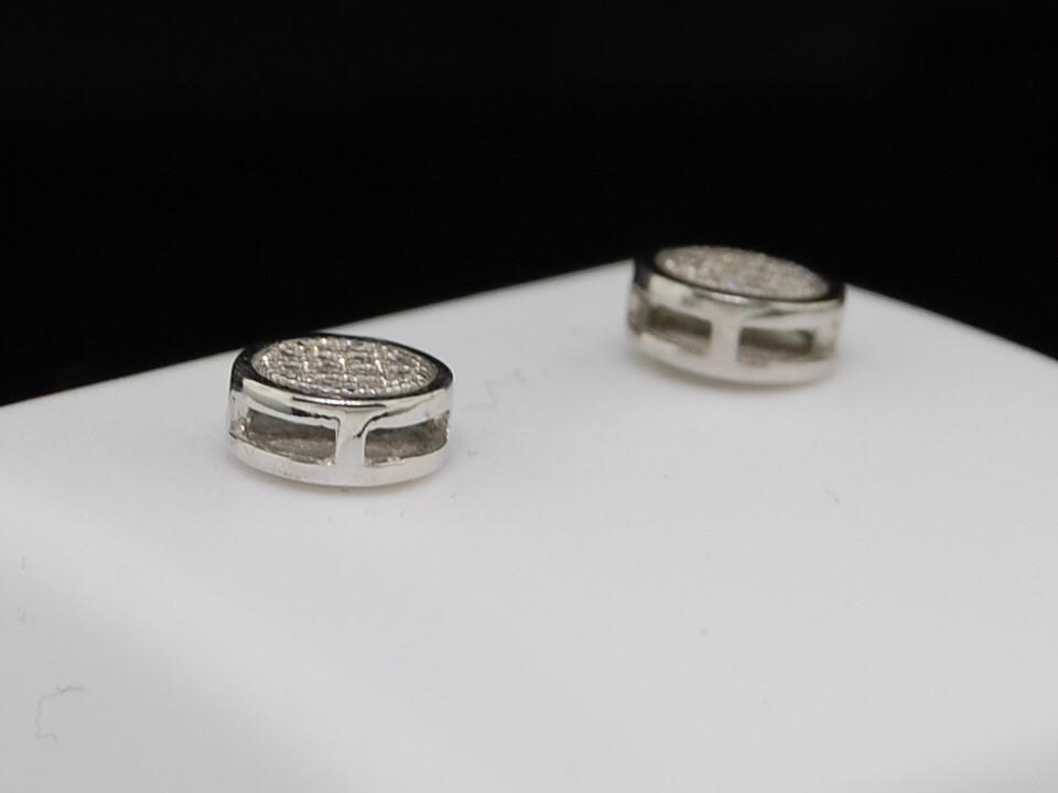 MENS LADIES WHITE GOLD FINISH 6MM DIAMOND STUD EARRINGS