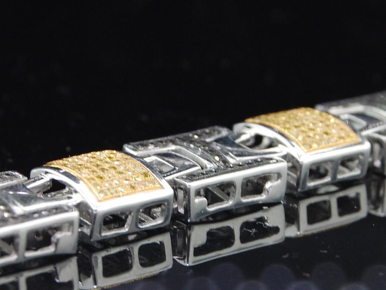 Mens White Gold Finish Pave Black Diamond Bracelet 2 6C